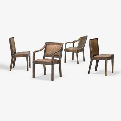 Karl Springer, 'Four chairs, two arm-two side-, New York', 1984