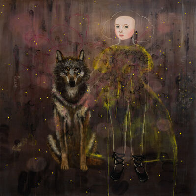 Anne Siems, 'Girl and Wolf', 2017