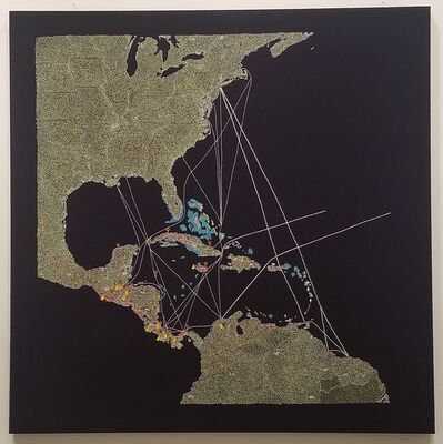 Tiffany Chung, 'El Pulpo: UFCo's Great White Fleet routes and properties in Central America & the Caribbean', 2019