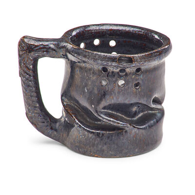 George Ohr, 'Puzzle mug with in-body twist, gunmetal glaze', 1898-1910