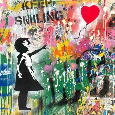 Mr. Brainwash, 'Balloon Girl', ca. 2019