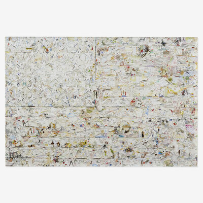 Vik Muniz, 'White Flag, after Jasper Johns (from Pictures of Magazines 2)', 2012