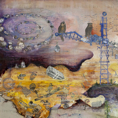 Josh Dorman, 'Alone with the Owls (For Jason Molina)', 2014