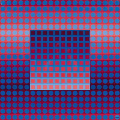 Victor Vasarely, 'ZETT-I. Red/Blue.', 1974