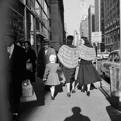 Vivian Maier, 'VM1954W00154-11-MC - New York, NY, 1954, 2 Women Walking with Girl', Printed 2017