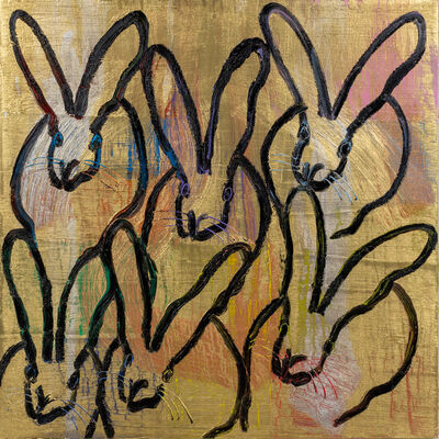 Hunt Slonem, '6 Bunnies', 2020