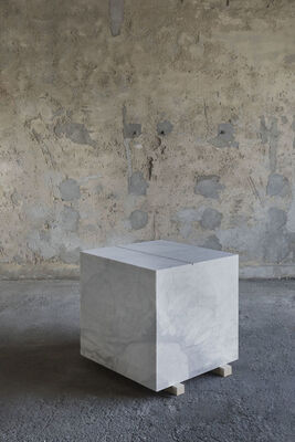 Francesco Arena, 'A Square Meter of Marble with a Linear Meter of Ash', 2018