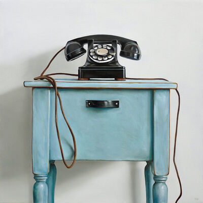 Christopher Stott, 'Western Electric Rotary Telephone & Blue Table', 2018