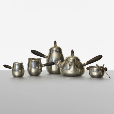 Georg Jensen, 'Perl coffee and tea service, no. 80', 1915