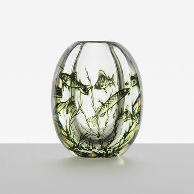 Edward Hald, 'Graal Fish vase', c. 1936