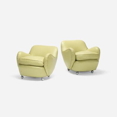 Vladimir Kagan, 'Barrel lounge chairs model 100A, pair', 1950