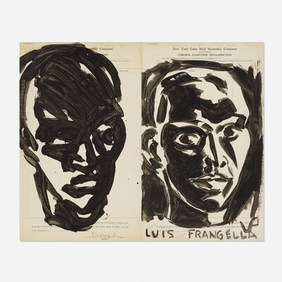 Luis Frangella, 'Rostros Blanco y Negro (Black and White Faces)', 1983