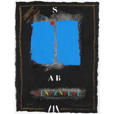James Coignard, 'Deux bleus sur noir #1243. ', 2006