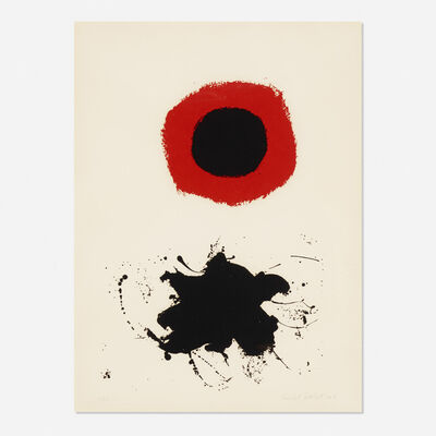 Adolph Gottlieb, 'Red Halo - White Ground', 1966