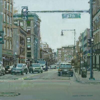Dianne L. Massey Dunbar, 'Cityscape in Green', 2015