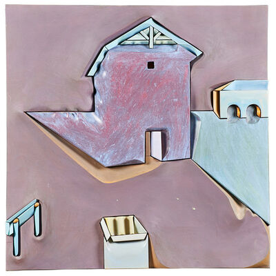 "Stan Dann, 'Small wall-hanging sculpture, ""Lake House,"" Lafayette, CA', 1997"