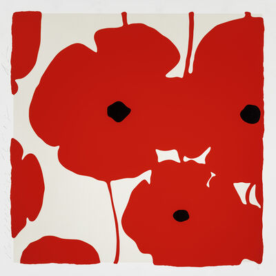 Donald Sultan, 'Red Poppies', 2018