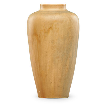 Grand Feu, 'Vase, celadon and ivory glaze', 1916-18