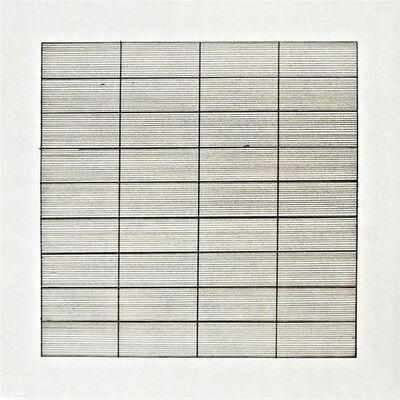 Agnes Martin, 'Untitled Lithograph on Vellum (from Stedelijk Museum)', 1990