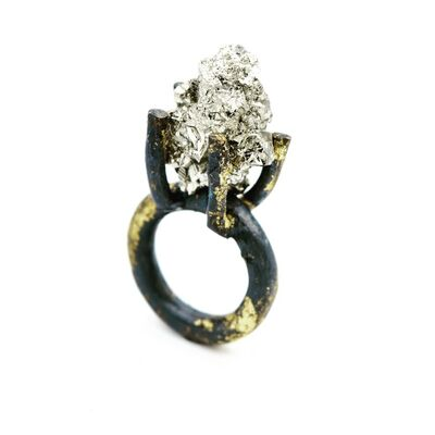 Jill Herlands, 'Pyrite and Gold Ring'