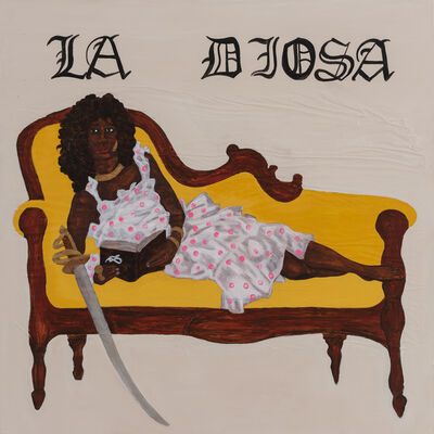 Umar Rashid (Frohawk Two Feathers), 'La Diosa: Denise, interrupted. Reading the rites. The goddess.', 2020