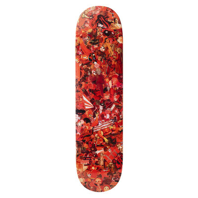 Vik Muniz, 'Eight Color Spectrum Red Skateboard Deck', 2019