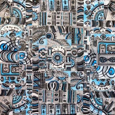 Deborah Baye, 'Blue Aztec', 2018