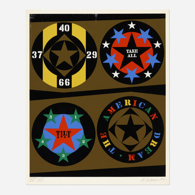Robert Indiana, 'The American Dream (from Decade)', 1971