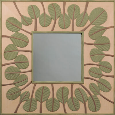 Judy Kensley McKie, 'Mirror with Green Leaves', 2018