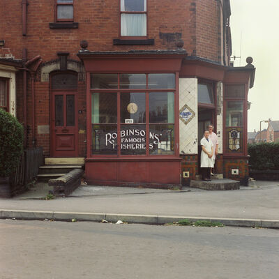 Peter Mitchell, 'Mrs Collins & Mrs Clayton, Beck Road, Leeds. Summer 1974', 1974