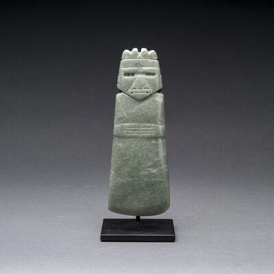 Unknown Pre-Columbian, 'Guanacaste-Nicoya Jade Figure Celt Pendant', 300 AD to 500 AD