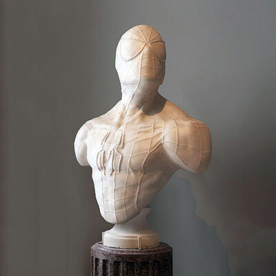 Léo Caillard, 'Heroes in Stone (Spiderman)', 2018