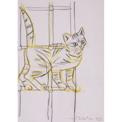 John Craxton, 'Cat in a Window', 1982