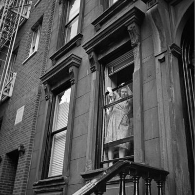 Vivian Maier, 'VM1954W00090-10-MC - New York, 1954, Woman Cleaning Windows', Printed 2017