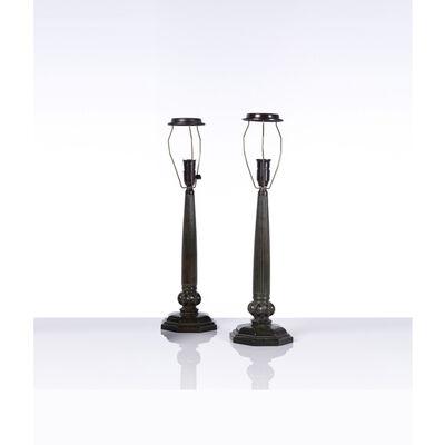 Just Andersen, 'Disko model Pair of lamps', 1940