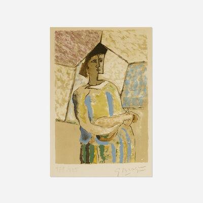Georges Braque, 'Femme a la mandoline (from Braque le Patron)', 1945