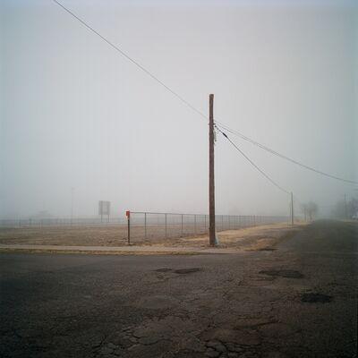 Allison V. Smith, 'Football field in fog. Alpine, Texas. ', 2019