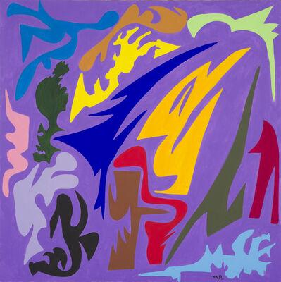 Michelangelo Antonioni, 'Colori che asciugano sul viola', 2004