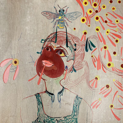 Rina Banerjee, 'Made of sugary sin and sweet greed she was wide eyed and relentless when plenty of nectar and flower brought also a mood much too sour, unleashed her, her all that was bad in power', 2014