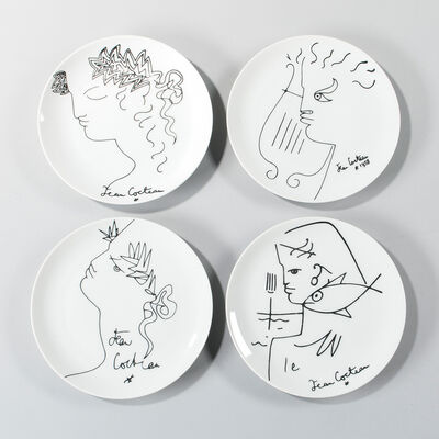 Jean Cocteau, 'Four Luncheon Plates'