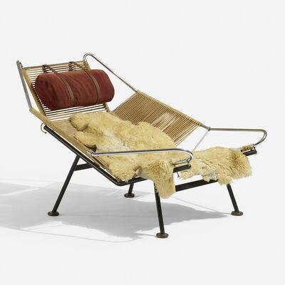Hans Jørgensen Wegner, 'Early Flag Halyard lounge chair', c. 1950