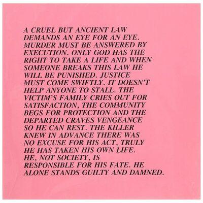 "Jenny Holzer, 'Eye for an Eye, ""Inflammatory Essay"" (from Documenta 1982)', 1982"