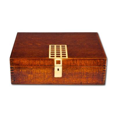 Wiener Werkstätte, 'Wooden Box by Josef Hoffmann Wiener Werkstatte ca 1910 Humidor', ca. 1910