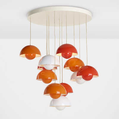 Verner Panton, 'Flowerpot chandelier', c. 1968