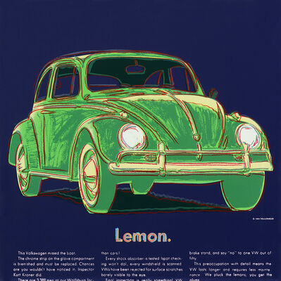 Andy Warhol, 'Volkswagen (FS II.358)', 1985