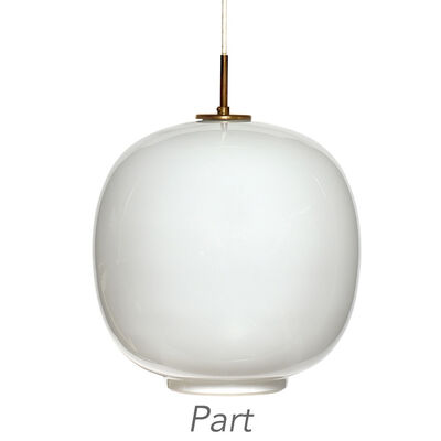 Vilhelm Lauritzen, 'Pair of Vilhelm Lauritzen and Louis Poulsen Radiohus Pendant Lights'