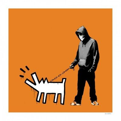 Banksy, 'Choose Your Weapon Dark Orange', 2010