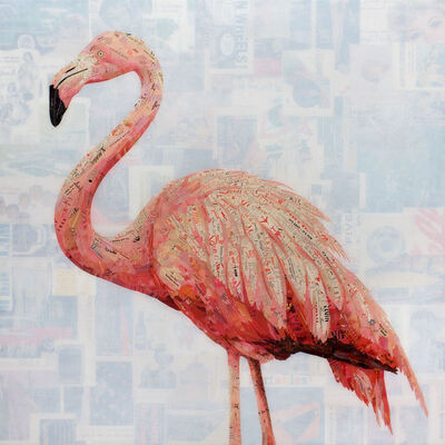 Jay Kelly (b. 1975), ''It's Easy (Pink Flamingo)'', 2020