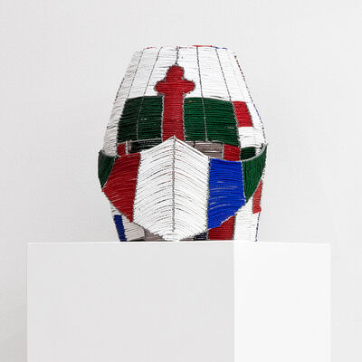 Curtis Talwst Santiago, 'African Knight Helmet 3', 2017