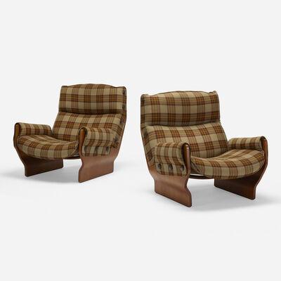 Osvaldo Borsani, 'Canada lounge chairs, pair', 1965